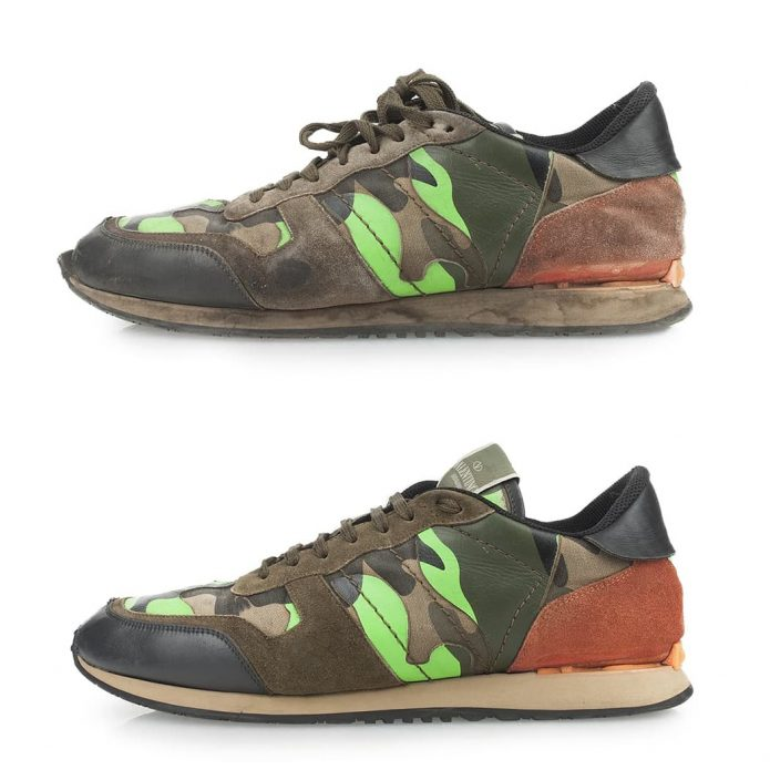 химчистка кроссовок valentino чистка обуви